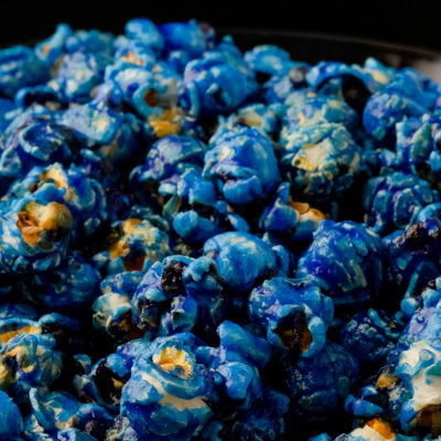 blue popcorn