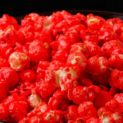 cherry strawberry red hot popcorn