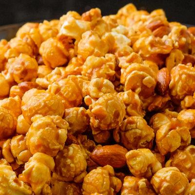 toffee almond popcorn