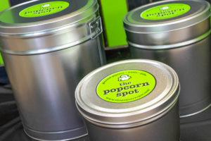 plain popcorn spot tin